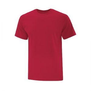 ATC1000 - Everyday Cotton Tee in red on white background