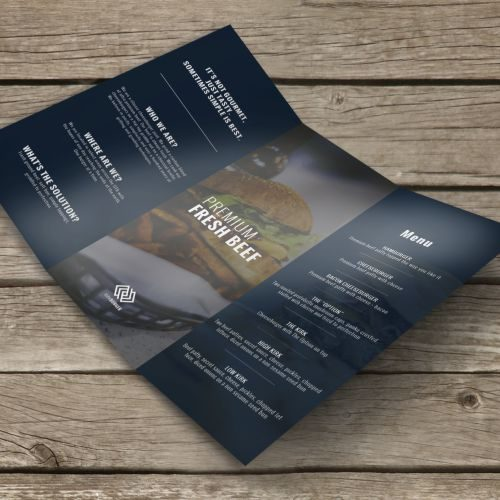 Brochure with gloss text finish