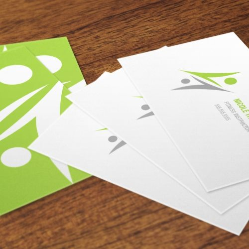 business card with matte finish