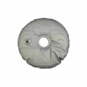 Grey PVC water ballast bag for flag pole banner