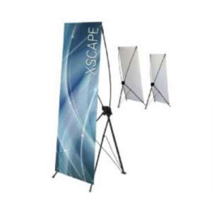 X frame banner for trade shows