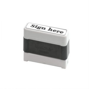 Pro-stamp with black ink