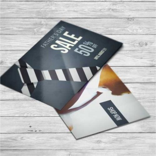 Postcards printed with a semi-gloss finish