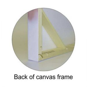 Back view of canvas wrap frame