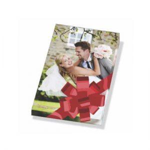 Canvas wrap picture showing wedding couple