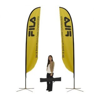 Medium size feather flag in yellow