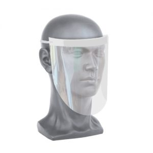 Covid-19 Clear face shield on model head