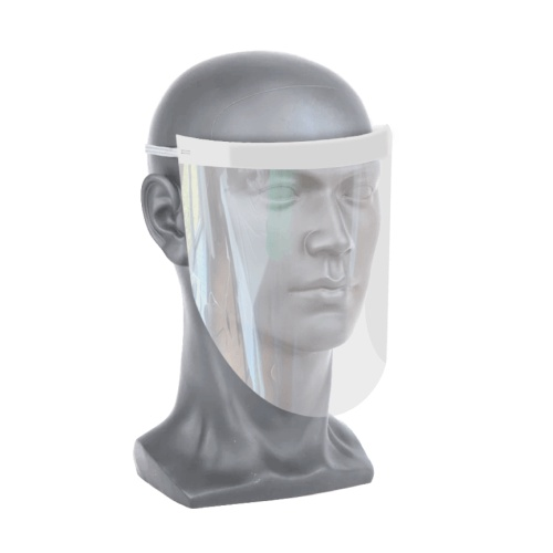 Covid-19 Clear face shield on model head