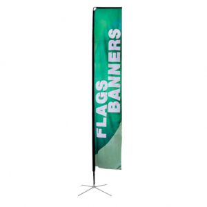 Large Rectangle banner flag with x-base