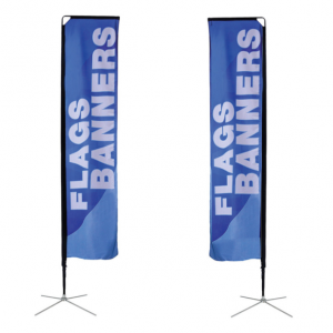 Rectangle banner flag, size medium on x-stand