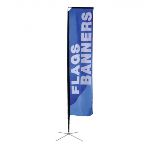 Medium size rectangle pole banner flag
