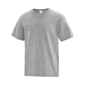 ATC1000Y Youth Everyday Cotton Tee in Athletic Heather Grey Red