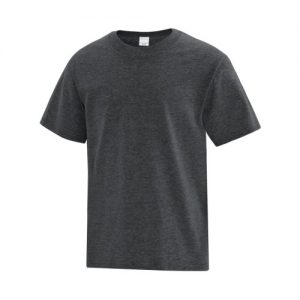 ATC1000Y Youth Everyday Cotton Tee in Dark Heather Grey