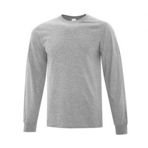 ATC1015 Everyday Cotton Long Sleeve Tee in Athletic Heatherte