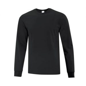 ATC1015 Everyday Cotton Long Sleeve Tee in Black