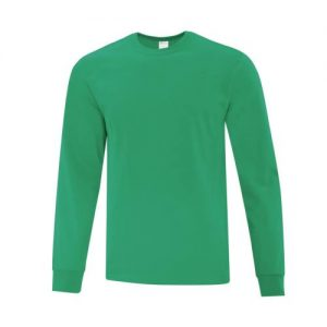 ATC1015 Everyday Cotton Long Sleeve Tee in Kelly Green