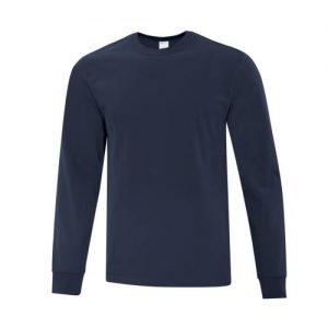 ATC1015 Everyday Cotton Long Sleeve Tee in Navy Blue
