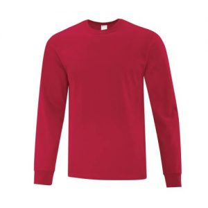 ATC1015 Everyday Cotton Long Sleeve Tee in Red